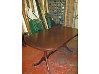 Macintosh extending table and 6 chairs in Mahogany