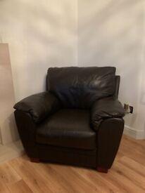 Chocolate brown sofa set for sale