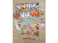 VIZ COMIC'S SEVEN IN ALL £5 THE LOT ....