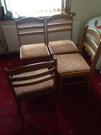 4 oak chairs good quality