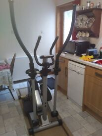 Roger Black Silver 2 in 1 Exercise Bike and Cross Trainer