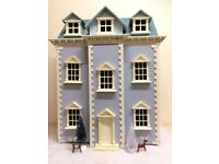 Dolls House with Georgian Windows and Furniture