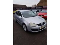 2007 DIESEL V W GOLF 2.0L GT TDI 3 DOOR HATCH SILVER JUNE 2018 MOT F/S/H BELT DONE ALLOYS CD E/W E/M