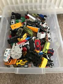 Large tub full of toy cars
