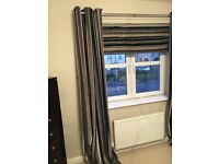 NEXT brown stripe curtains and matching cushions