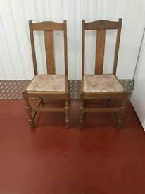 Vintage Oak Chairs