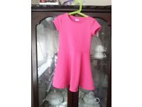 Girl's Pink F&F Dress, Ages 5-6
