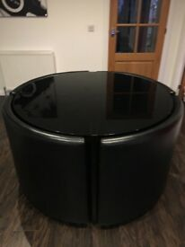 Black Gloss Round Dining Table