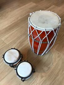 Indian-style 'Bina' Drum & Bongo Drums