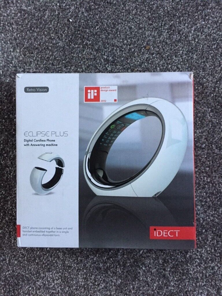 White iDECT Eclipse Plus Single DECT House Phone