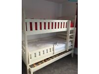 Single Bunk Beds with third pull out guest bed