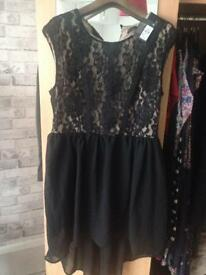 Black going out dress brand new size 16