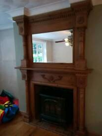 Large ornate fireplace surround
