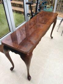 Hickory Wood Veneer Console / sofa table