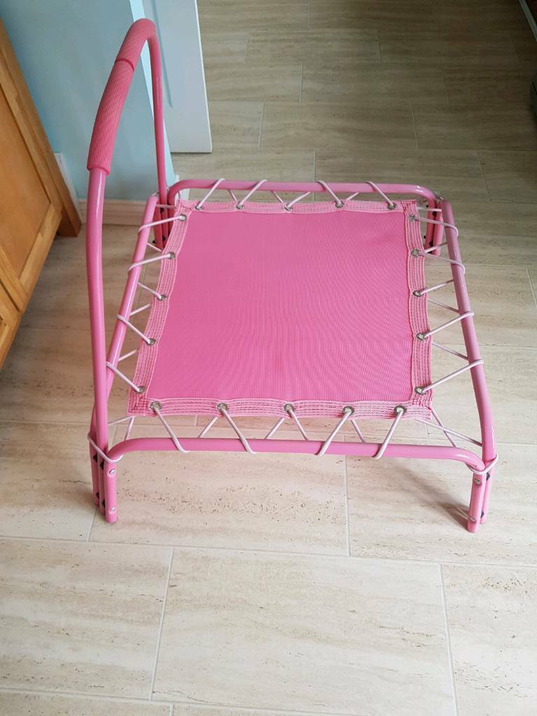 Indoor Trampoline in pink - excellent condition