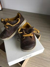Boys Clarks Shoes Size 5G