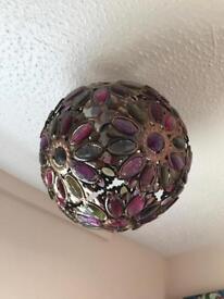 Moroccan jewelled pendant lightshade