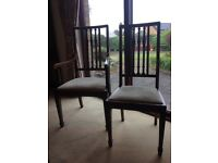 Antique Mahogany Dining Chairs and Carvers