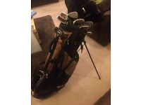 Full set of RAM golf clubs+bag+tees and 3 driver covers