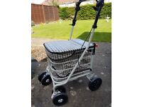 Walk and Rest Shopping Trolley with Seat and brakes