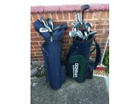 Golf clubs including Howsons bag