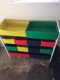 Colourful Storage Shelves