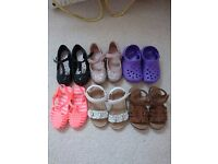 Bundle of toddler girls size 6 and 7 footwear in excellent condition from a smoke and pet free home