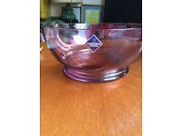 Two large crystal bowls