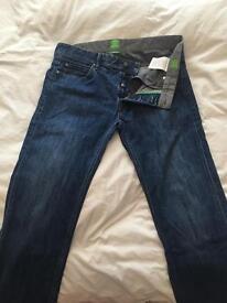Real Hugo boss green stretch fit denim jeans