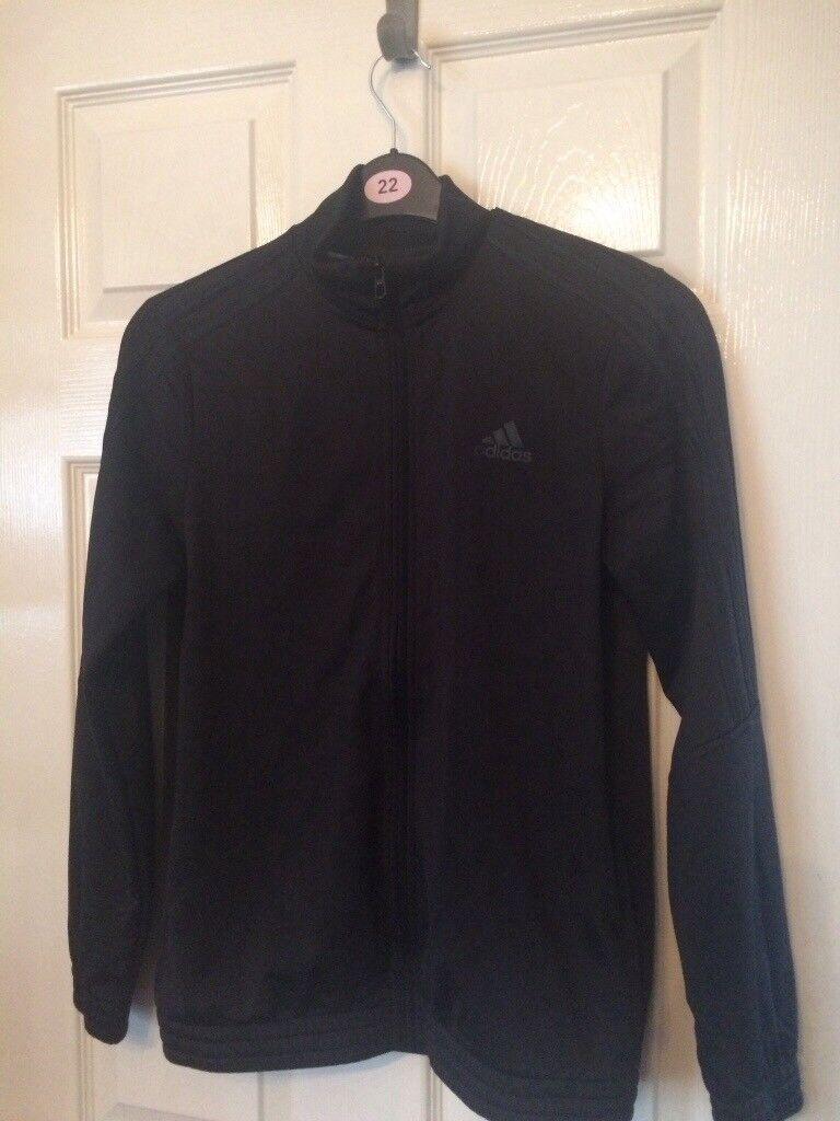 2bdbaa68c Boys Adidas triple black Tiro tracksuit, jacket and marks Spencer's boys  coat