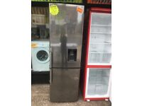 SAMSUNG FROST FREE FRIDHE FREEZER WITH WATER DESPEMSER IN SHINY SILIVER