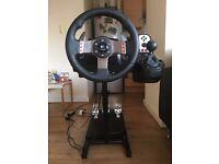 Logitech G27 Steering wheel + Stand