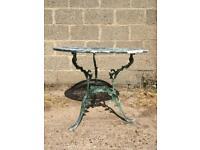 9 pieces of Cast Iron Garden Furniture