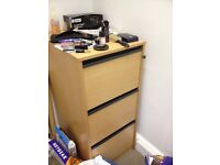 Beech Filing Cabinet - collect from London W1