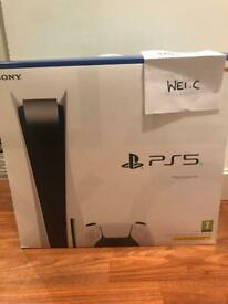 Brand new and sealed Playstation PS5 Disc Edition with receipt