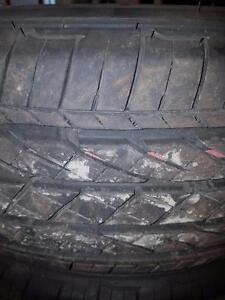 4 pneus d'été 225/65/17 Bridgestone Dueler H/P Sport AS