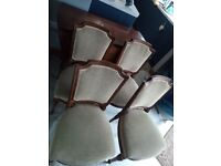 Drop leaf table and 4chairs