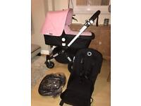 Immaculate bugaboo cameleon 3 pink (or off white hood)