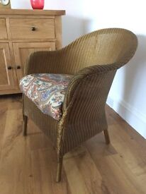 Lloyd Loom chair ideal bedroom or conservatory