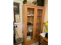 Display cabinet with two bottom draws 2 units very solid