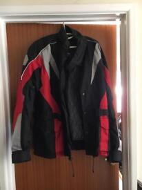 Red & Black City of London Leather Biker Jacket