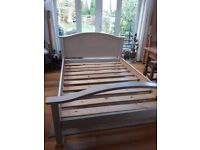 Wooden Painted Double Bed Base