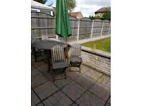 4 Folding Wooden Homebase Patio Chairs