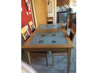 Table and 6 chairs plus 2 units