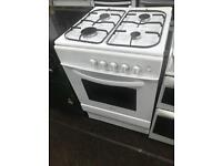 White 60cm gas cooker grill & oven good condition with guarantee