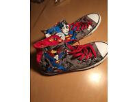 Limited edition size 8 superman converse