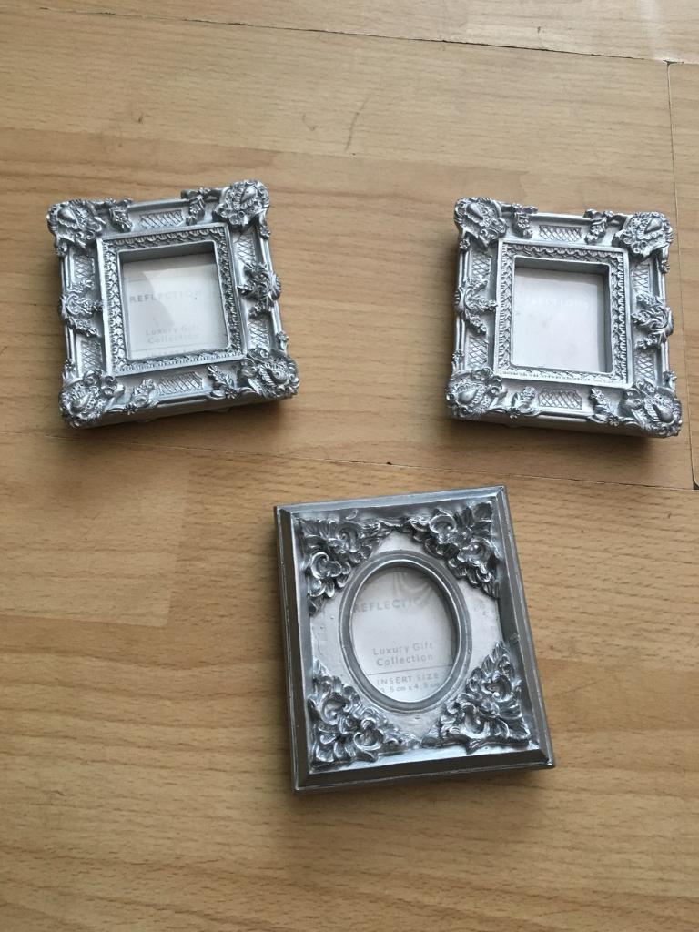X3 Mini Silver Photo Frames