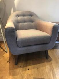 Made Richie Armchair in Pearl Grey RRP £349