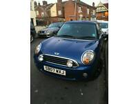 Mini one 1.4 blue low mileage