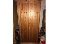 2 double solid pine wardrobes
